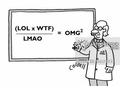 Professor treating acronyms like formulae.